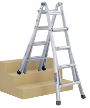step ladder and extension ladder all-in-one